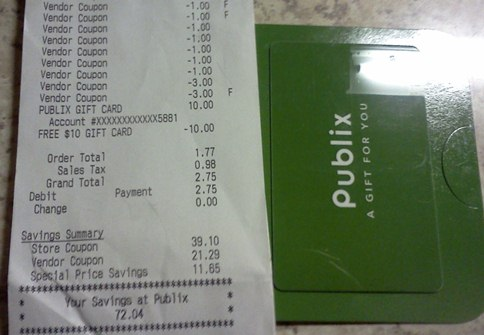 Publix haul shopping trip coupons