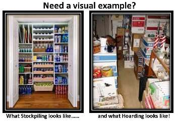 Stockpiling Vs. Hoarding