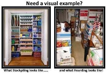 Stockpiling Vs. Hoarding